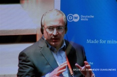 """""""Lies need to be called out as lies, and this is a serious task both for governments and for tech companies."""" – Mikhail Khodorkovsky. MICHELLE EICKMEIER/ SUNGUNEWS"""